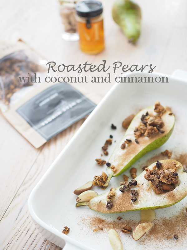 Avec Sofié blog l honey roasted pears with coconut