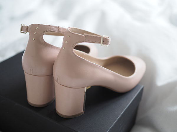 Avec Sofié blog l Nude Massimo Dutti ankle strap high heel shoes